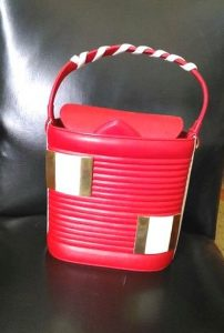 1950s Red and White Bucket Bag