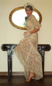 Beige Lace Long Dress