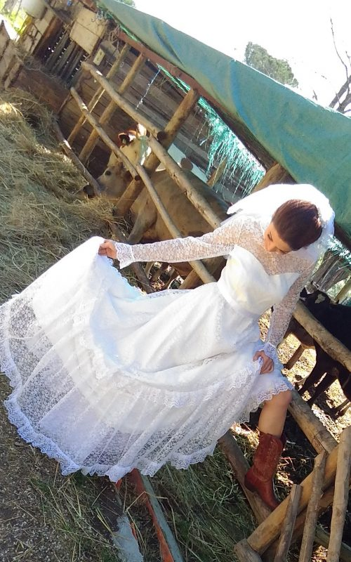Abito in pizzo bianco Country Bride 1970 - tg 42-44 (3)
