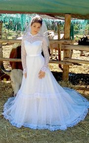 Abito in pizzo bianco Country Bride 1970 - tg 42-44 (4)