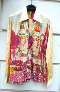 1970s Oriental Temple Fantasy Men's Shirt