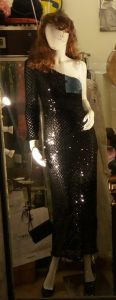 1980s One-Shoulder Black Dress