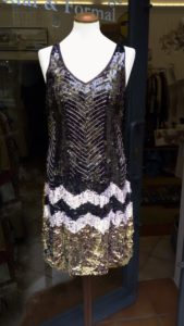 Short Sequinned Dress 1920s Style