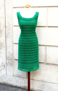 1950s Bombshell Green Lace Dress