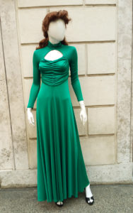 1970s does 1940s Emerald Green Maxidress